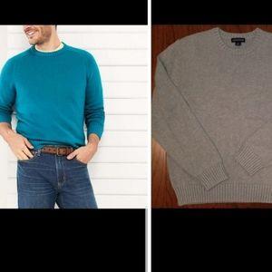 Lands' End Light Gray Sweater Medium